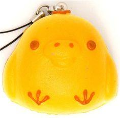 Kiiroitori chick light bread squishy cellphone charm