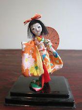 "Vintage miniature Japanese geisha gofun doll only 3"" tall 1960s"