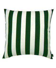 Dark Green Stripe Indoor/Outdoor Throw Pillow