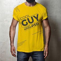 Download Free Cool Guy T Shirt Mockup Psd 01 Shirt Mockup Tshirt Mockup Clothing Mockup
