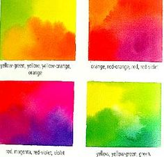 Watercolour Painting Schemes