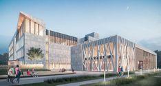 Auditorium Architecture, Facade Architecture, High Building, Building Design, Public Library Design, Concept Models Architecture, Commercial Architecture, Facade Design, Modern Buildings