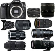 Best Lenses for Canon EOS DSLR camera. Looking for recommended lenses for your Canon EOS Here are the top rated Canon EOS lenses. Dslr Photography Tips, Photography Lessons, Photography Equipment, Digital Photography, Photography Tutorials, Wedding Photography, Camera Hacks, Camera Nikon, Camera Gear
