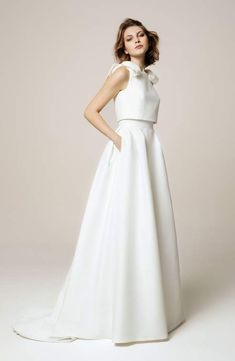 Jesus Peiro The Top 19 Wedding Dresses of The Year, chosen by Luxe Bride, A Collective of Top Luxury British Bridal Boutiques Wedding Dressses, Wedding Dress Trends, Wedding Dress Shopping, Wedding Gowns, Wedding Blog, Wedding Dress Separates, Two Piece Wedding Dress, Bridal Separates, Wedding Dress Bow