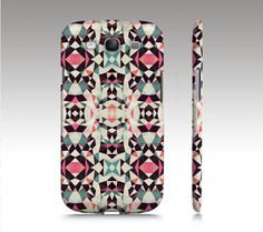 RETRO TRIBAL Light Samsung Galaxy S3 Case Cover Barely There SnapOn tribal aztec navajo pattern teal pink cream