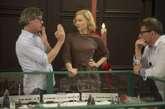 Todd Haynes directing Cate Blanchett on the set of CAROL