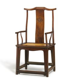 A huanghuali high yoke-back armchair, late Ming dynasty.