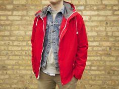 A Closer Look: Freeman Seattle Freeman Jacket - Well Spent. Red Parka, Do Men, What To Wear, Rain Jacket, Street Wear, Menswear, Leather Jacket, My Style, Men's Apparel