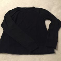 Black Sweatshirt with Sheer Sleeves Shell is 100% cotton and Sleeves are 100% Polyester J. Crew Tops Sweatshirts & Hoodies