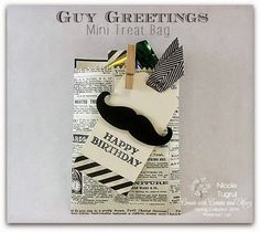 Be Creative with Nicole: Spring Collection Week 3 Blog Hop! Mini treat back featuring Guy Greetings and Typeset Designer Series Paper. Lots of pictures and details are at Be Creative with Nicole. Hop around through all the blogs for lots of great Occasions Catalog projects!