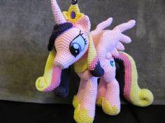 My Little Pony Friendship is Magic Princess Cadence crochet pattern by NerdyKnitterdesigns on Etsy.  <3  #mlpcrochet #princesscadence