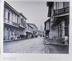 Escolta, circa 1899. Shop of Ricart Soler y Cia. (From Paquito dela Cruz/Manila Nostalgia) Philippines Culture, Filipiniana, Manila, Filipino, Signage, Past, Nostalgia, History, Places