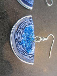 ZOREILLES boucles d'oreilles en capsule nespresso bleu. €4.00, via Etsy.