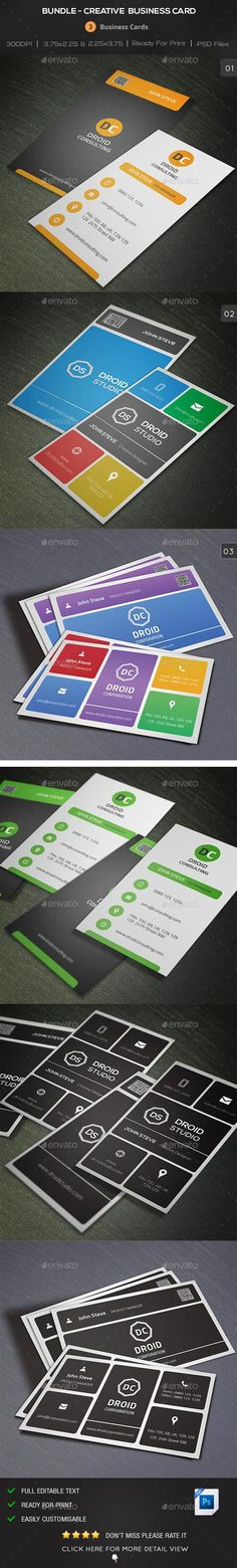Bundle - Creative Business Card  #template #creative #business