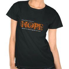 Hope Cancer Awareness Drk Tshirt - Kidney Cancer