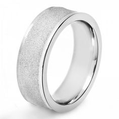 Crucible Stainless Steel Men's #Ring With Sandblasted Finish