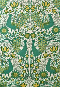 Wallpaper | Lewis and Wood | PEACOCK A striking print with a contemporary laser-cut feel, Peacock was designed by the renowned textile designer Agnes Wimborne in the late 1970s.