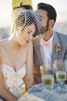 Birdcage veils with an abundance of styles and fabrics can fit into any wedding theme