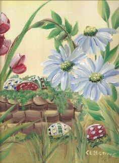 one stroke painting spring | Tell me your story….