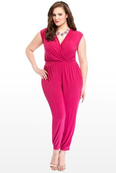 1f34c37a82bb Kendra Crossover Jumpsuit From Fashion to Figure. Plus Size ...