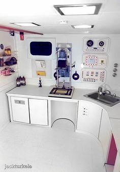 ©JackTurkel_1975_Darkroom (1)  Beautiful space themed darkroom built in 1975 by Jack Turkel, for just under $500 then.