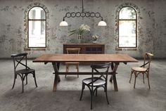 Zuo Laurel Heights Dining Table Distressed Natural