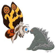 Mothra & Godzilla