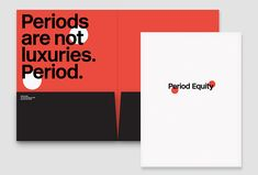 Picture of 4 designed by Pentagram for the project Period Equity. Published on the Visual Journal in date 22 December 2016