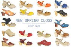 new clogs from Lotta, Sanita, Moheda and Ten Points