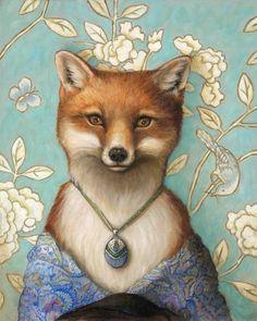 Art In Motion Jayne Siroshton. Anthropomorphic fox portrait.