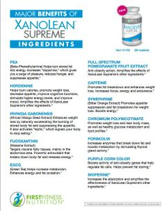 NEW, Improved XanoLean Supreme! What's in it? Breakdown of all-natural ingredients and what they do.