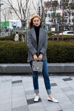 Choi Jisun, Street Fashion 2017 in Seoul