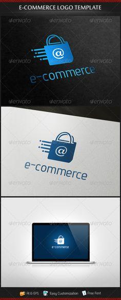 e-Commerce  - Logo Design Template Vector #logotype Download it here: http://graphicriver.net/item/ecommerce-logo/3653737?s_rank=1112?ref=nexion