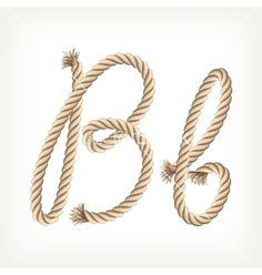 Typography - Rope Alphabet  - Letter B