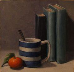 Oil on Panel Stop The Rain, Cornishware, Medicine Bottles, Paintings, Oil, Fine Art, Paint, Painting Art