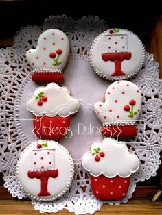 Easy Christmas Treats, Christmas Sweets, Christmas Goodies, Christmas Baking, Fancy Cookies, Iced Cookies, Cute Cookies, Cupcake Cookies, Christmas Cookies Packaging