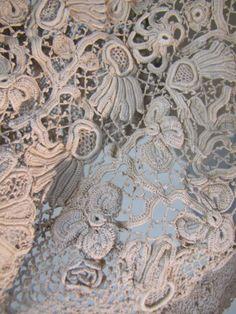 Vintage Irish Crochet Wedding Dress, Summer 1930