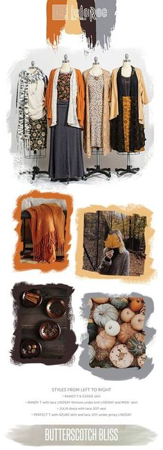 Fall fashion inspiration - burnt orange, butterscotch, neutral tones - LulaRoe outfit ideas - LulaRoe fall styling #lularoe #fallstyle #falloutfit #fallphotos