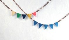 Spring Colors Bunting Necklace by ThePolkadotMagpie on Etsy, $39.00