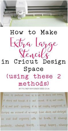 How to Make Extra Large Oversized Stencils in Cricut Design Space Meeting and Overlapping Methods - Repurposing Junkie