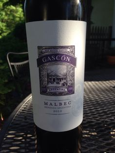 Trying a new Malbec.