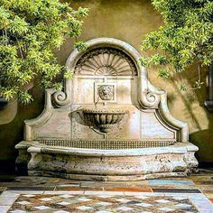 Spanish style homes – Mediterranean Home Decor Stone Fountains, Garden Fountains, Garden Care, Pool Fountain, Slytherin Aesthetic, Spanish Style Homes, Backyard Landscaping, Backyard Waterfalls, Water Features