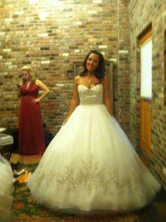 Hoop Skirt Wedding Dress Before