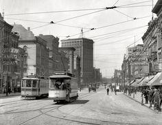 Woodward Avenue looking north circa 1905