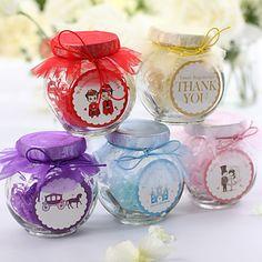 frascos de vidro de doces com chiffon (conjunto de 12) - EUR € 16.49
