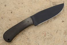 Hunting Knife with Green Micarta and Caswell Finish