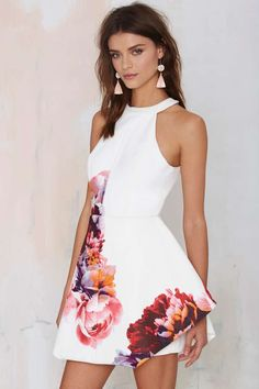 white + floral