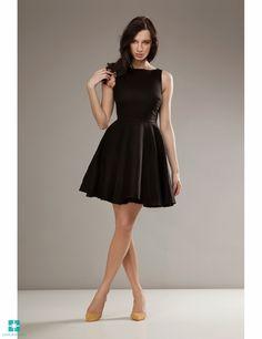 Look what I found on Black Sleeveless Fit & Flare Dress Beautiful Dresses For Women, Circle Dress, Cute Dresses, Cute Outfits, Fit Flare Dress, Classic Looks, Dress Skirt, Fashion Beauty, Fashion Dresses
