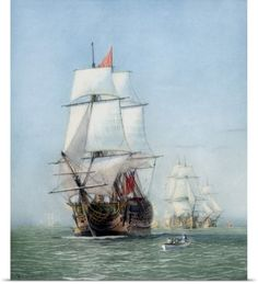 John Parrot Poster Print Wall Art Print entitled Vintage print of HMS Victory of the Royal Navy, None