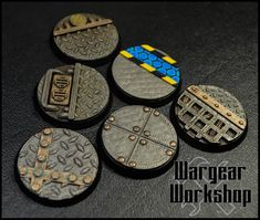 Warhammer Paint, Warhammer 40k, Miniature Bases, Sci Fi Miniatures, Imperial Fist, Environment Concept Art, Painted Pots, Tabletop Games, 3d Printing